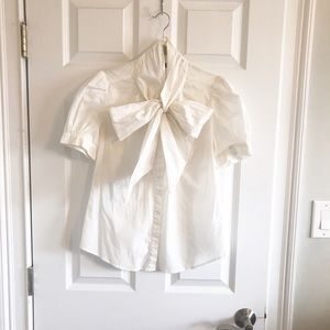 French Connection blouse with big bow